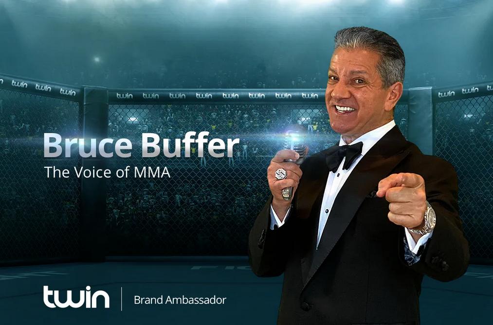 Bruce Buffer: Markenbotschafter bei Twin